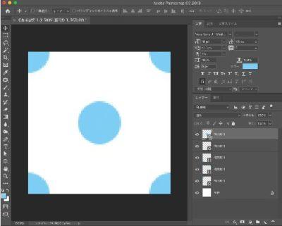 背景白の最小単位のパターン