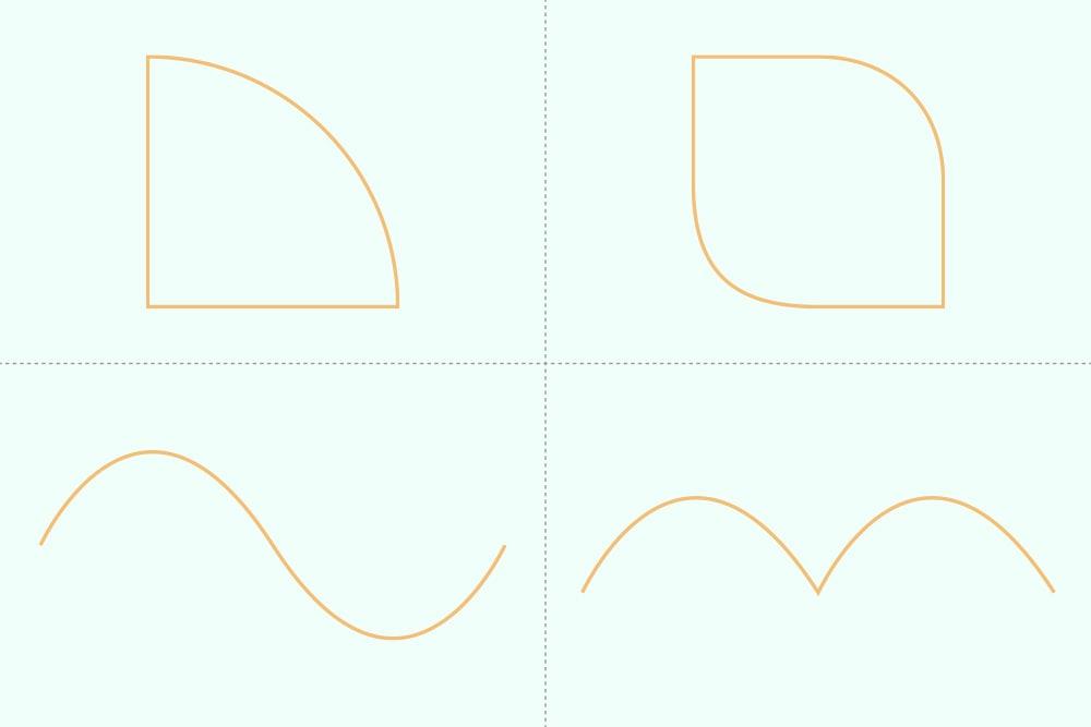 通常のペンツール練習用の基本の図形