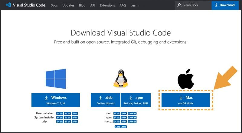 Visual Studio Code公式ダウンロードページ