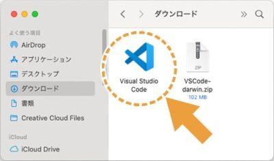 Visual Studio Codeのアプリケーション
